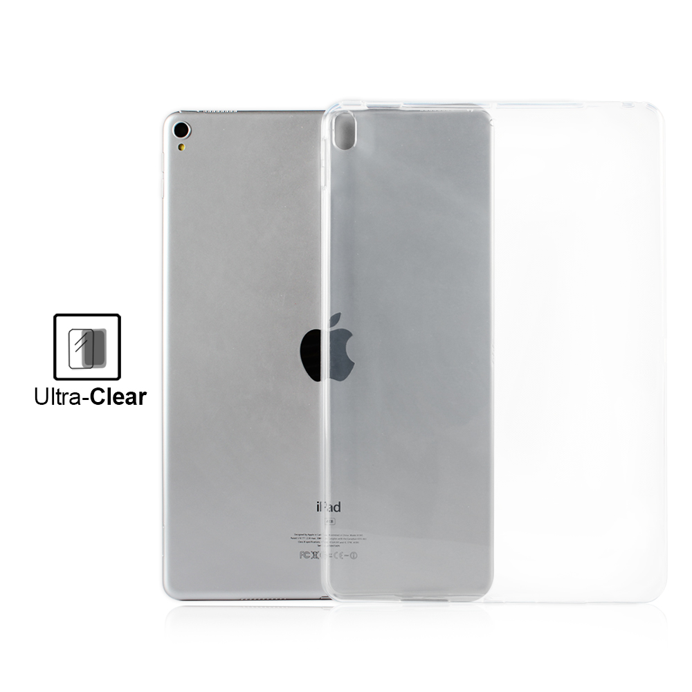 Grey Flexible Soft Transparent TPU Shockproof Rubber Back Cover for iPad Pro 10 5 2017 Model