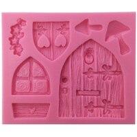 Enchanted Vintage Fairy Garden Fairy Or Gnome Home Door Silicone Mold Crafting Polymer Clay Resin Mold