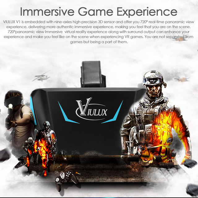 VIULUX V1 VR 3D Headset for PC 1080P Support Object Adjustment 5.5 inch screen outstanding 1080P FHD