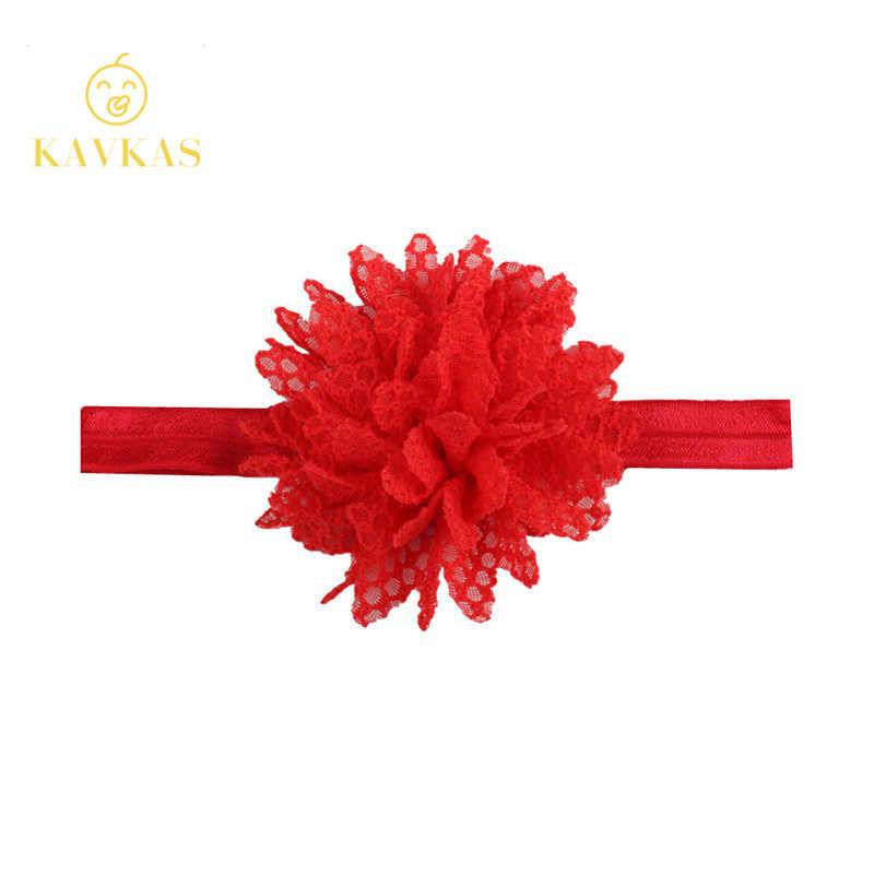 KAVKAS جديد 1 قطعة عقال الفتيات الوليد جميلة طفلة هيرباند شبكة زهرة الدانتيل عقال الأطفال إكسسوارات الشعر