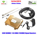 New GSM 3G Repeater ,Dual Band Booster 65dbi Mobile Signal 3G WCDMA 2100MHz GSM 900MHz Cell Phone Signal Booster Amplifier