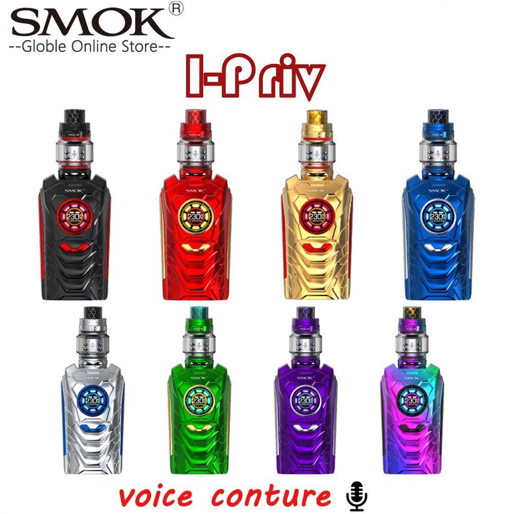 (RU entrepôt) SMOK I-PRIV Kit 230 W commande vocale I Priv boîte Mod 8 ml TFV12 Prince réservoir E Cigarette Vape Kit VS SMOK Mag