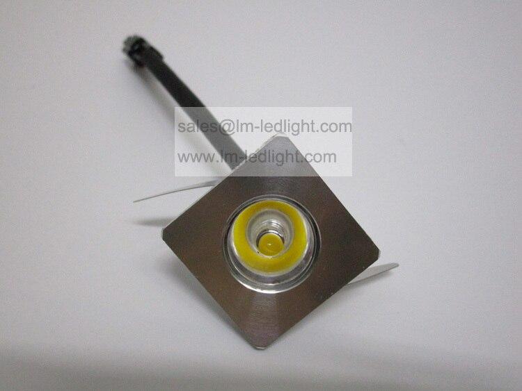 small led spotlights 1W 100pcs led bridgelux 150lm warm white day white pure white silver white jewelry showcase lighting