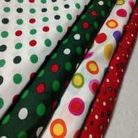Carina di Natale di Colori Della Caramella del Puntino di Polka Stampato Tessuto di Cotone 50x105 centimetri di Tessuto Patchwork per il Panno Del Partito Del Vestito Casa decorazione