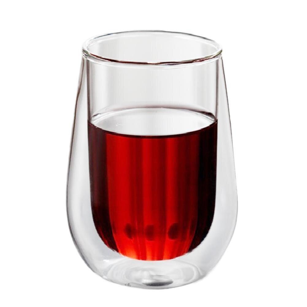 250/450ml Heat Resistant Double Wall Tea Glass Cup Beer Coffee Cup Set Handmade Creative Healthy Drink Mug Transparent Drinkware spülbecken sieb