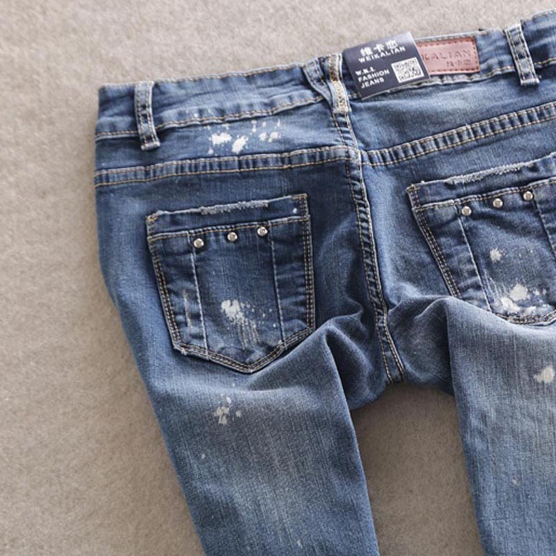 WQJGR Forår Kvinder Låg Talje Kvinder Jeans Pencil Pants Stretch - Dametøj - Foto 2