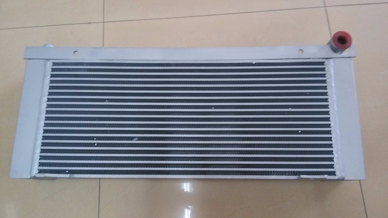 WJIER oil cooler heat exchanger aluminum water radiator for screw air compressor 2202854401 high quality water cooled heat exchanger black 22091904 for screw air compressor spare parts