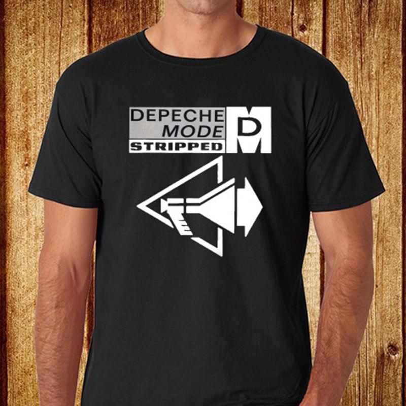 New DEPECHE MODE STRIPPED English Electronic Band Mens Black T-Shirt Size S-3XL T Shirt Men Clothing Fashion Style