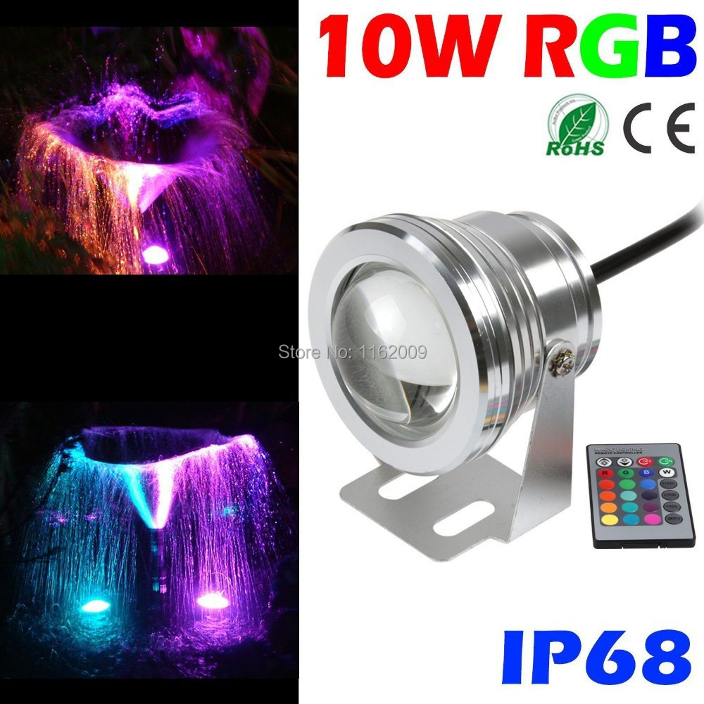 5pcs lot 12v 10w rgb led underwater light waterproof ip68. Black Bedroom Furniture Sets. Home Design Ideas