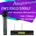 Free Shipping! EW135G2 Professional UHF Wireless Microphone EW 135G2 Wireless System EW100G2 135 G2 For Vocals Speech Karaoke