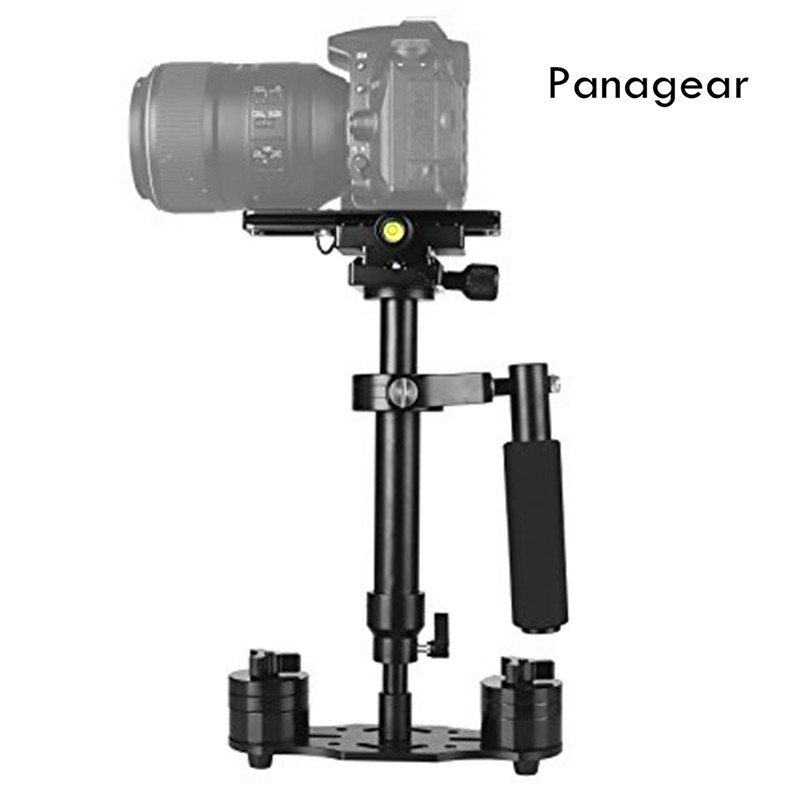 Panagear S40 15.7/40CM Handheld Stabilizer with Quick Release Plate 1/4 Screw for Camera Video DV DSLR Nikon Canon Sony new mini handheld for sony pentax canon nikon dslr cameras carbon fiber video camera stabilizer grip with quick release plate