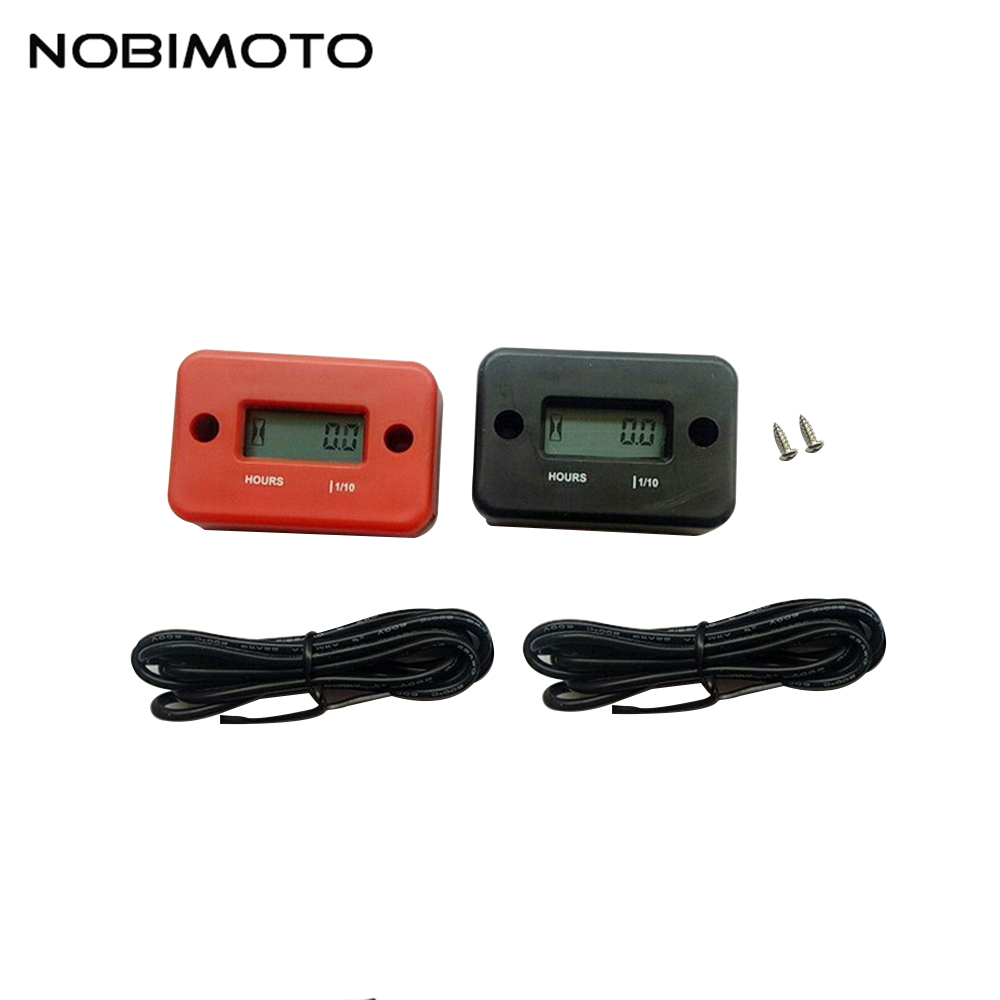 Motorcycle Waterproof Digital LCD Counter Hour Meter For ATV Snowmobile Marine Boat Yama Ski Dirt Quad Bike YB001