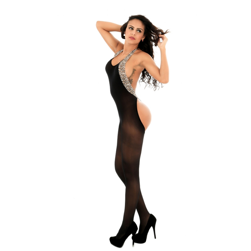 Sexy Women Lingerie HOT Teddies Bodysuits Leopard Print Body Stocking Lingerie Bodysuit Babydoll Nightwear Sleepwear