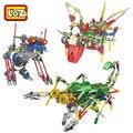 Bloques Eléctricos Bloques De Construcción LOZ Robot Asamblea Educación de BRICOLAJE Juguetes Modelo de Dinosaurio Para Los Niños Regalos de Los Niños 3019-3021