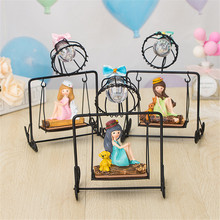 Bedside Little Girl Swing Night Light Ornament for Home Living Room TT-best