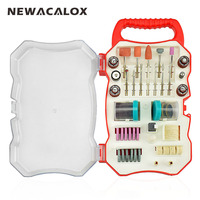NEWACALOX 103pcs Lot Rotary Tool Accessory Bit Set Grinding Polishing Cutting 1 8 Abrasive Tool Kit