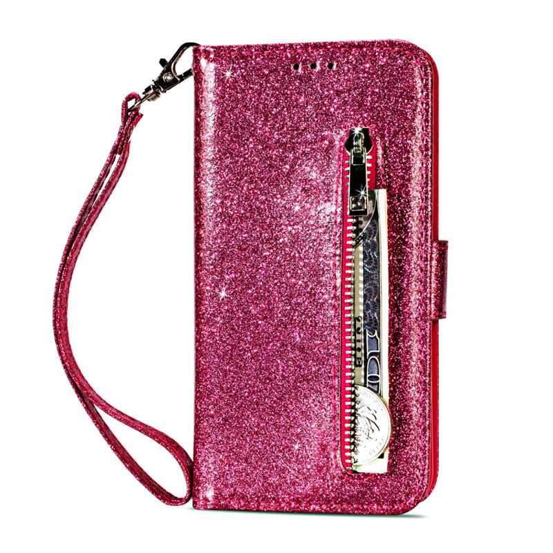 Wallet PU Leather Case For Samsung Galaxy S11 S10 E S9 S8 Plus S6 S7 Edge Note 10 Pro 8 9 Glitter Silicone Card Slot Flip Cover