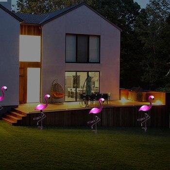 Światła LED światła Flamingo LED latarnia udziałów dekoracyjne na zewnątrz trawnik lampa ogrodowa zasilany energią słoneczną ścieżka światła do ogrodu Patio