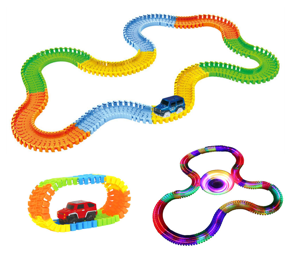 VICIVIYA-Miracle-Glowing-toy-Racing-Track-Set-Flexible-Track-Led-Car-Toy-For-Adult-100165220240pcs-Race-Track-1pc-LED-Car-1