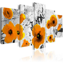 5 pieces/set Classic flower series Picture Print Painting On Canvas Wall Art Home Decor Living Room PJMT-B (200)