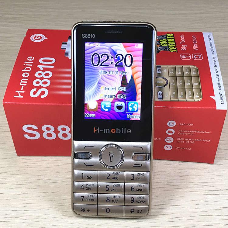 Teclado ruso llave 2,4 Pantalla gsm teléfonos pulsador teléfono móvil barato china teléfonos móviles original h-mobile S8810