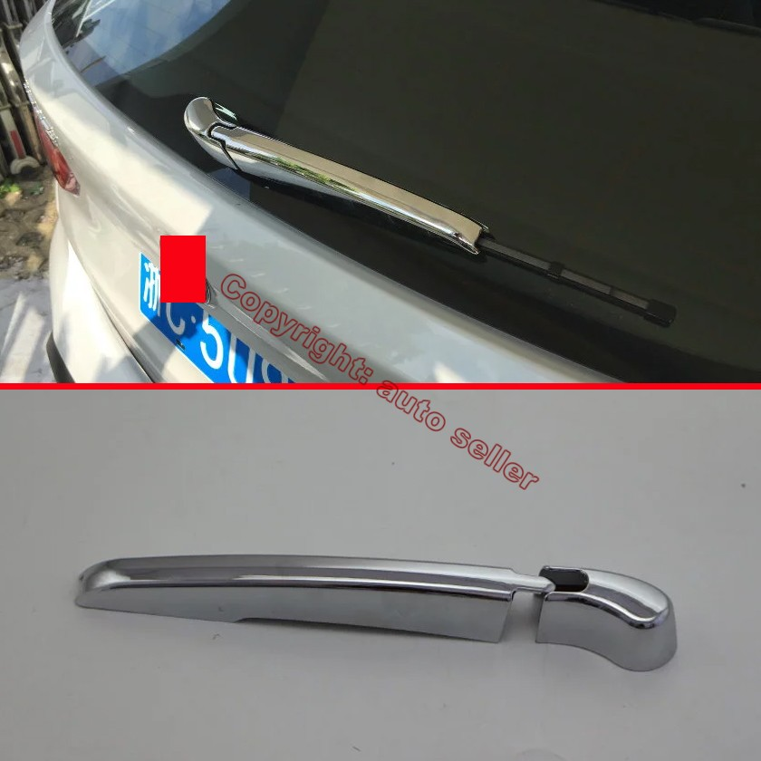 ABS Chrome Rear Window Wiper Nozzle Cover Trim For Peugeot 3008 2016 2017