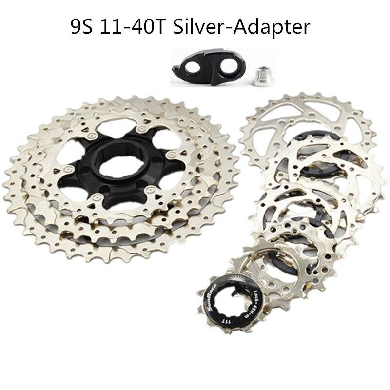 SunRace 8 9 Speed 11-40T MTB Bike Cassette Freewheel Adapter fit SHIMANO SRAM