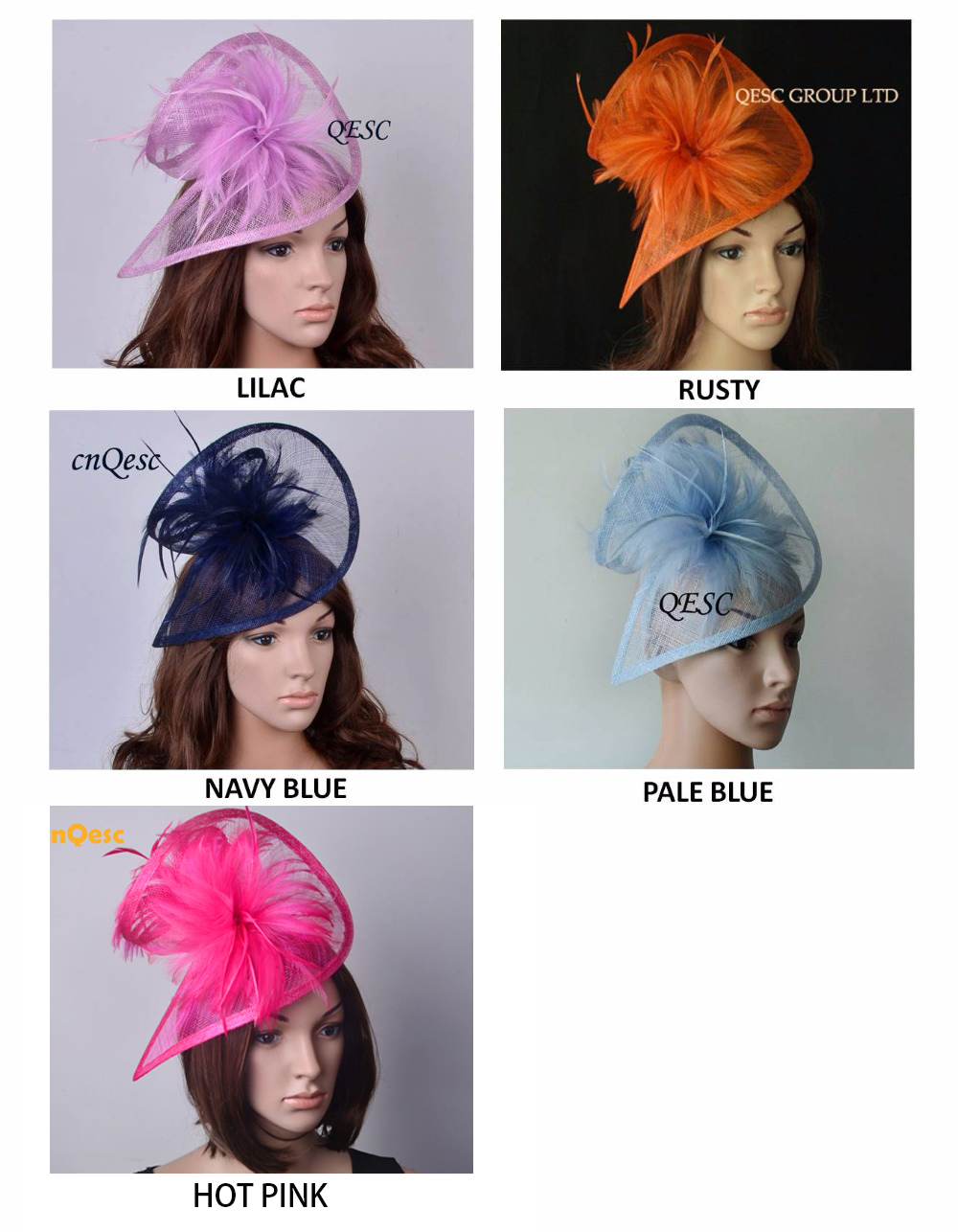 HOT fascinator sinamay fascinator sinamay hat in SPECIAL shape with feathers for races church wedding party