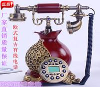 The new phone phone carved ceramic household fashion European antique antique telephone Garden Villa Decoration home classical