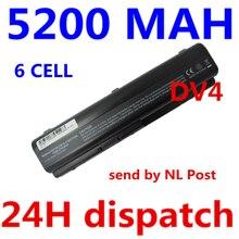 5200 mAH LAPTOP Akku für Compaq Presario CQ50 CQ71 CQ70 CQ61 CQ60 cq45 cq41 cq40 für hp pavilion dv4 dv5 dv6 dv6t g50 G61
