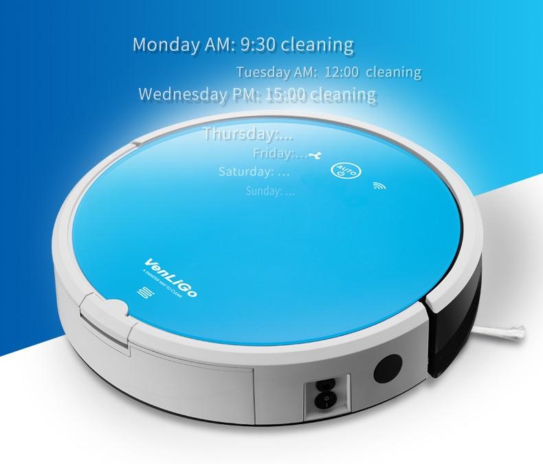 Intelligent Robotic Vacuum Cleaner For Home APP Control Household Robot Aspirator G5 PRO
