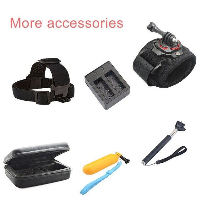 Accesorios acción de la cámara para gopro accesorios para gopro héroe 6 5 sjcam Héroe de la Cámara 4 3 kit para Xiaomi GS38