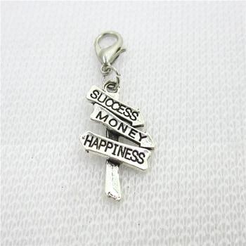 ¡Novedad! 10 Uds. De éxito, amuletos de felicidad, cierre de langosta, accesorio de joyería para manualidades, para pulseras, colgantes flotantes