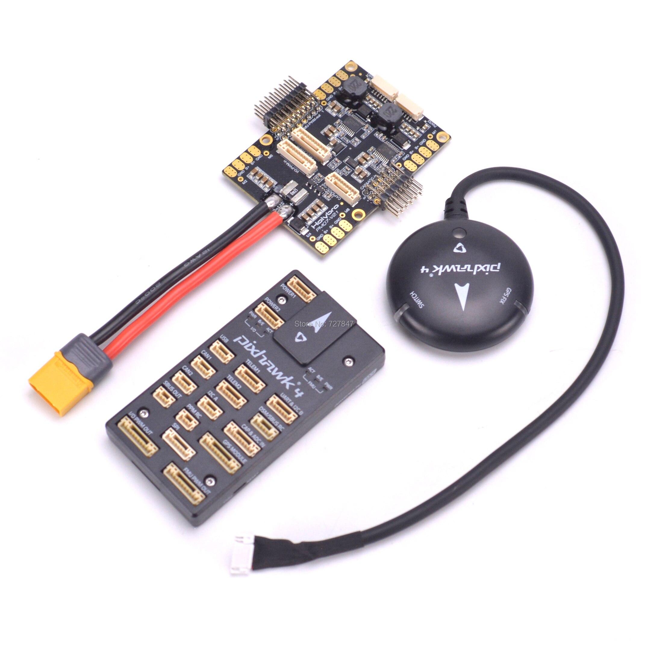 Pixhawk PIX 4 Flight Control & GPS MODULE M8N & PM07 Power Management Board  autopilot Combo For Quadcopter F450 S550