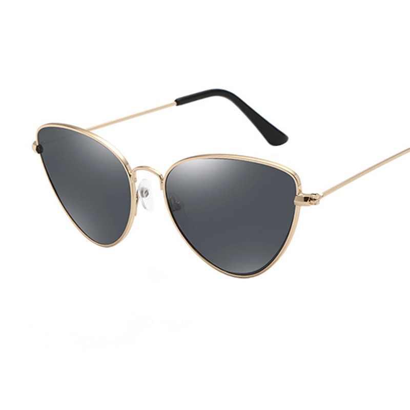 dd1d1e9989 TOYEARN Vintage Sexy Ladies Cat Eye Sunglasses Women Fashion Clear Red  Eyewear Metal Frame Sun Glasses