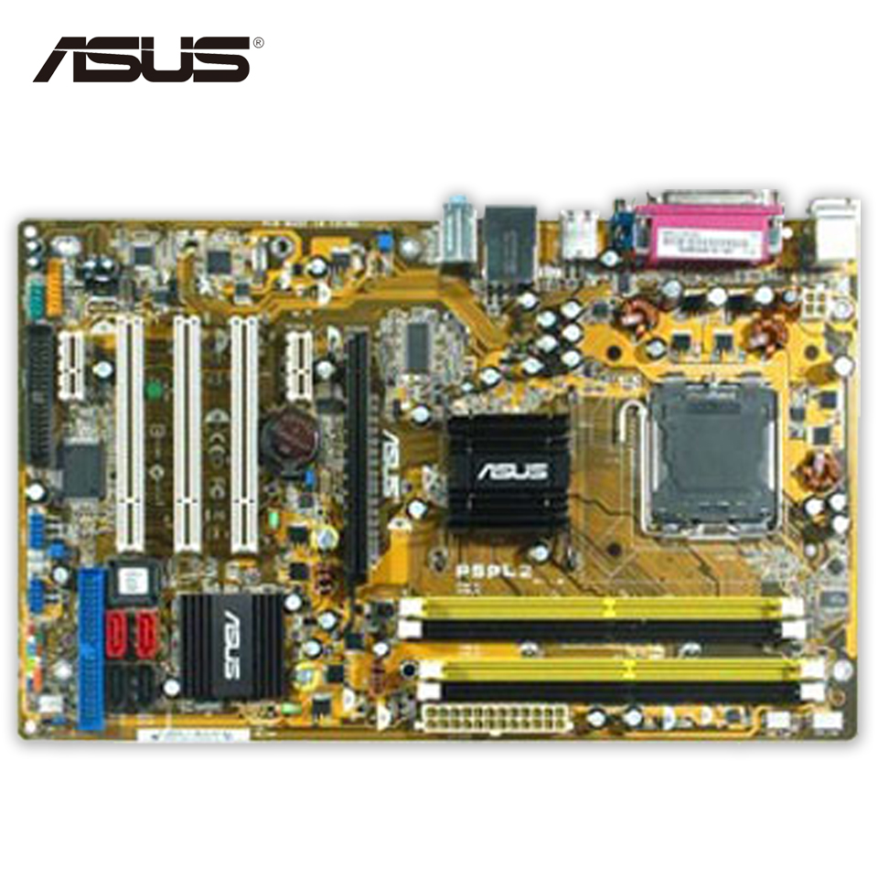 Original Used Asus P5PL2 Desktop Motherboard 945 Socket LGA 775 DDR2 SATA2 USB2.0 ATX 100% Fully Test used original for lenovo 945gc m2 lga 775 ddr2 for intel 945 motherboard