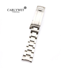CARLYWET 20 21mm Solid Stainless Steel Screw Link Replacement Wrist Watch Band Bracelet Glide Flip Lock Clasp For Oyster Deepsea