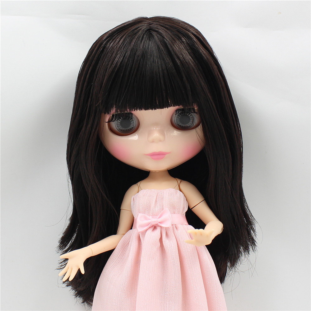 Neo Blythe Doll with Brown Hair, Natural Skin, Shiny Face & Jointed Body 3
