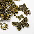 40pcs Butterfly Charms Pendants Antique Bronze Mixed Style Hot Selling Jewelry Finding Handmade Crafts Accessory Wholesale