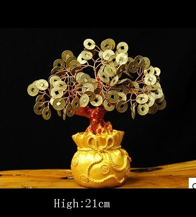 Lucky tree Holiday gifts natural crystal gem money tree in for wealth money bay