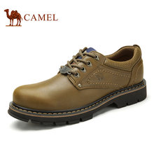 Camel Genuine Leather Cowhide Lace-up Men's Shoes Casual Tooling Shoes Waterproof
