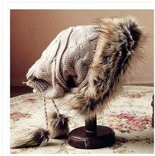Утолщаются , чтобы сделать воротник супер тёплый зима толстый мочевого пузыря вязаные шапки мс шляпа