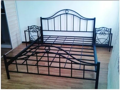 wrought iron bed princess bed iron bed ikea single double european metal frame bed 12 - Frame Bed
