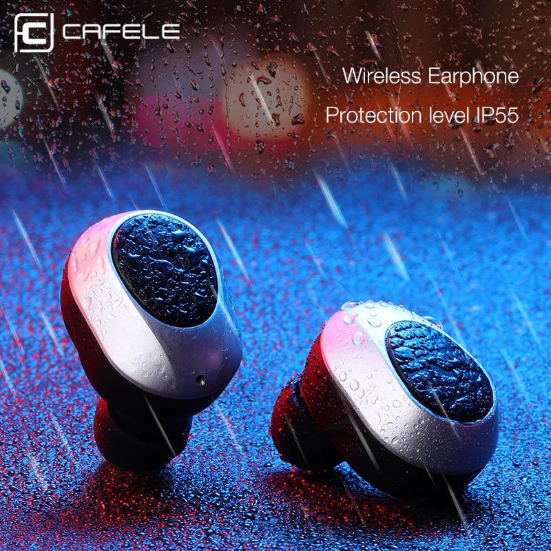 CAFELE Professional In-Ear Bluetooth Earphone High fidelity Sound Quality Metal Heavy Bass Business Wireless Earphone