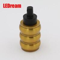 Nuovo arrivo Loft Vintage Retro Placcato Edison socket supporto E26/E27/UL/110 V/220 V Base Della Lampada In Alluminio dorato