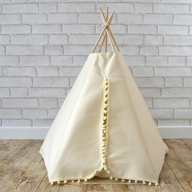 white Dog Bed Dog House Pet play House play teepee tent lovely warm dog/cat & white Dog Bed Dog House Pet play House play teepee tent lovely ...