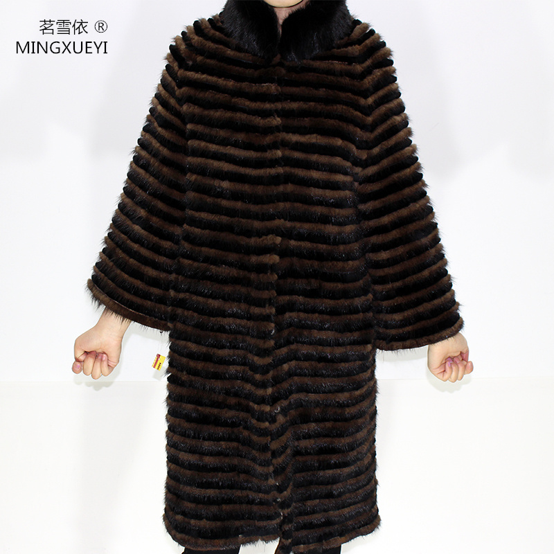 100% Fur Coats Real Mink Coat With Rex Rabbit Fur Jacket With Coats Of Fur Knitted Wool Lining Mink Fur Coats For Cold Winter
