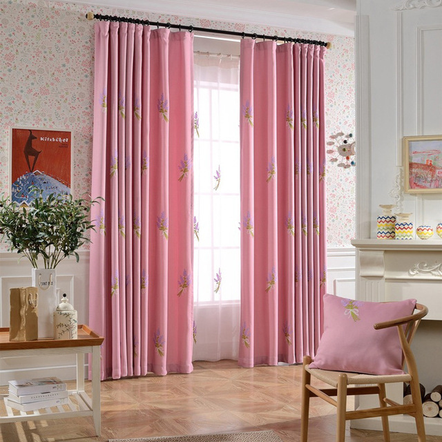 Pastoral Window Curtains for Kids Bedroom Children Embroidered ...