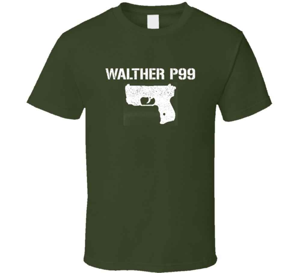 Walther P99 Pistol Military Distressed T Shirt