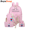 School Bags For Girls Teenagers Printing Backpack Set Women Kids Book Bag Canvas Mochila Satchel Rucksack Sack Purse Sac A Dos